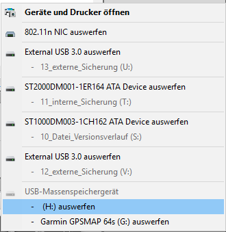 Windows USB Geräte