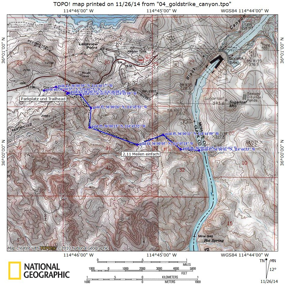 Topomap Goldstrike Canyon